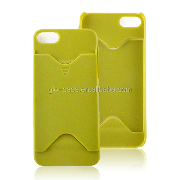 Phone Case Card Holder for Apple for iPhone 5/5S Good Hand Touch