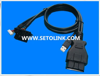 2014 HIGH QUALITY OBDII 16 PIN FEMALE TO MALE USB ADAPTER TEST CABLE