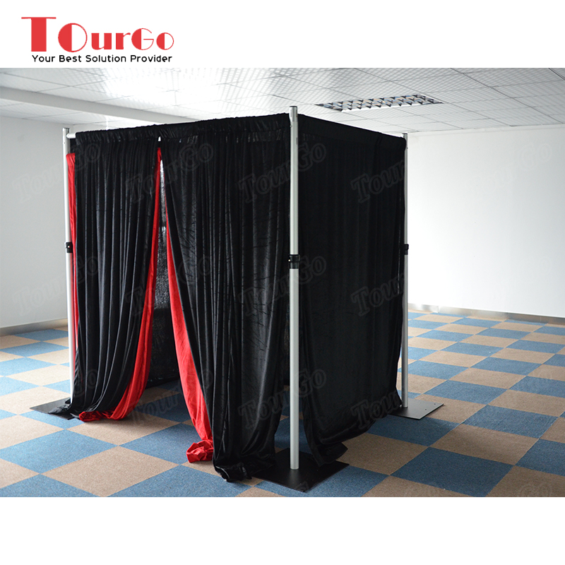 TourGo Pipe and Drape Photo Booth Enclosure Adjustable 10ft tall * 10ft wide