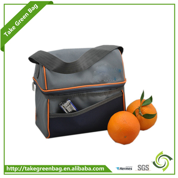 Recycled 600D oxford insulated cooler bag with zipper for men