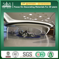 Construction Project Sound Absorb GRG Compound Suspended Ceiling