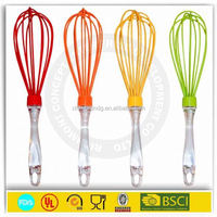 "Food grade 10"" manual silicone egg beater bakeware silicon eggs whisk"