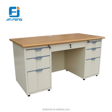 7 Locking Drawers Modern Design Executive Office Table with Stand Feet