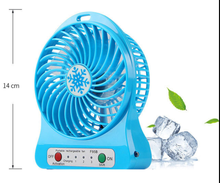 Rechargeable Portable Fan Air Cooler Mini Operated Desk USB Fans with lipo Battery