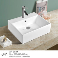 641 ceramic above mounted washroom bathroom sink