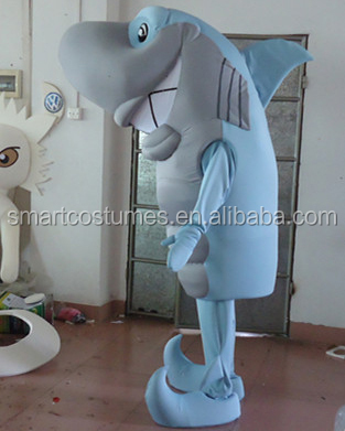 shark mascots adult blue shark mascot costume