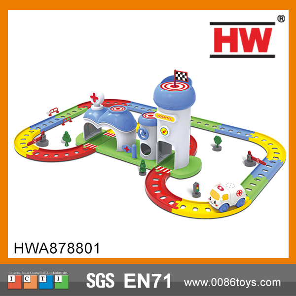 Most Popular Cartoon Car Parking Garage Toys for kids model railway
