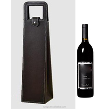 PU Leather Wine Bottle Carrier Holder Gift Packaging Bags