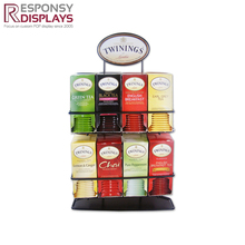 Retail Store Metal Steel Tea Bag Display Stand