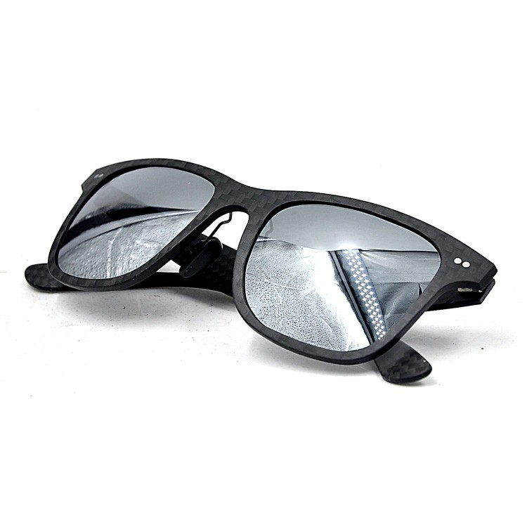Wholesale cheap high quality carbon fiber sunglasses with mirror lens