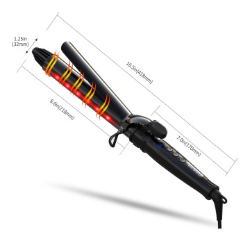 Hair Salon Equipment Infrared Hair Curling Iron Ceramic Coat Hair Curler Tools Barrel Size 25mm 28mm 32mm