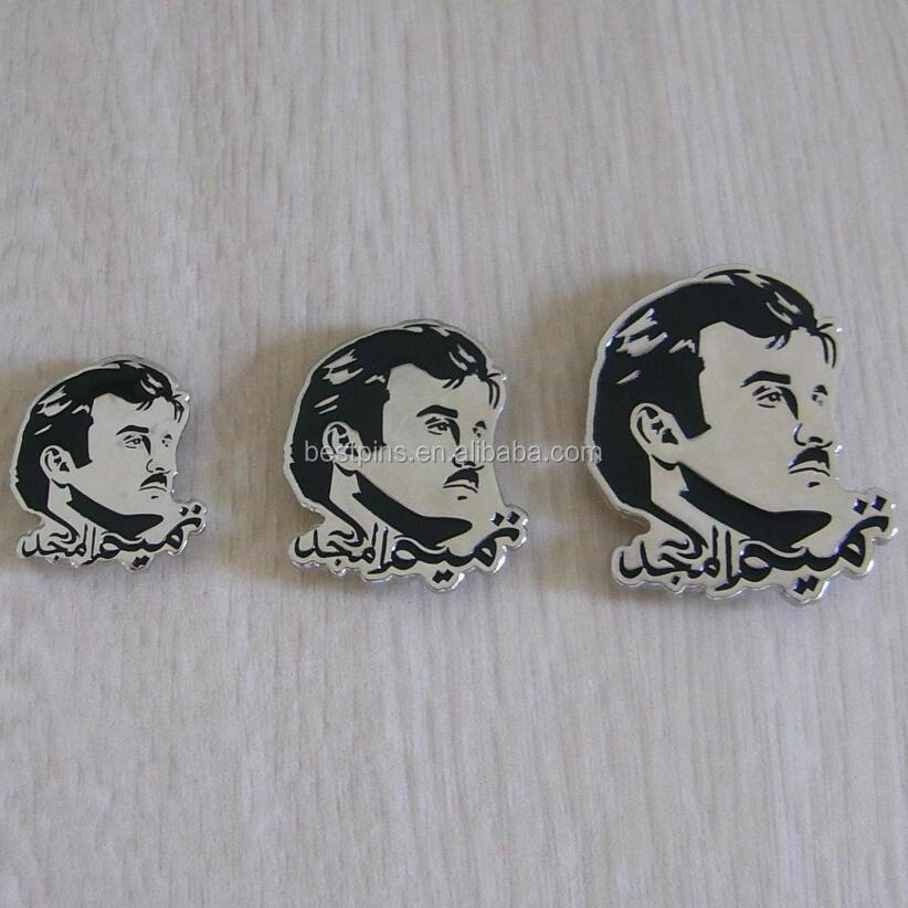 2.8cm, 3.5cm and 4.5cm Qatar leader Sheikh Tamim Almajd logo magnetic coat pin