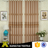 Suzhou Kangtai Textile new production embroidery style jacquard curtain fabric india
