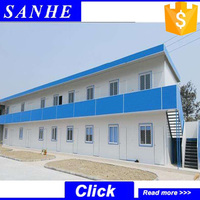 China low-price pre fab house, ready made modern sandwich panel mobile dormitory homes