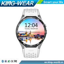 Factory Price!!2016 NEW 3G WIFI Smart Watch Phone Kingwear KW88 With GPS AMOLED screen Android Smart Watch