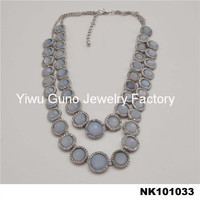 top sale light grey beads necklace plain chain