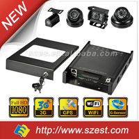 3G WIFI GPS Mobile DVR 1080P 4/8 channels School Bus CCTV system