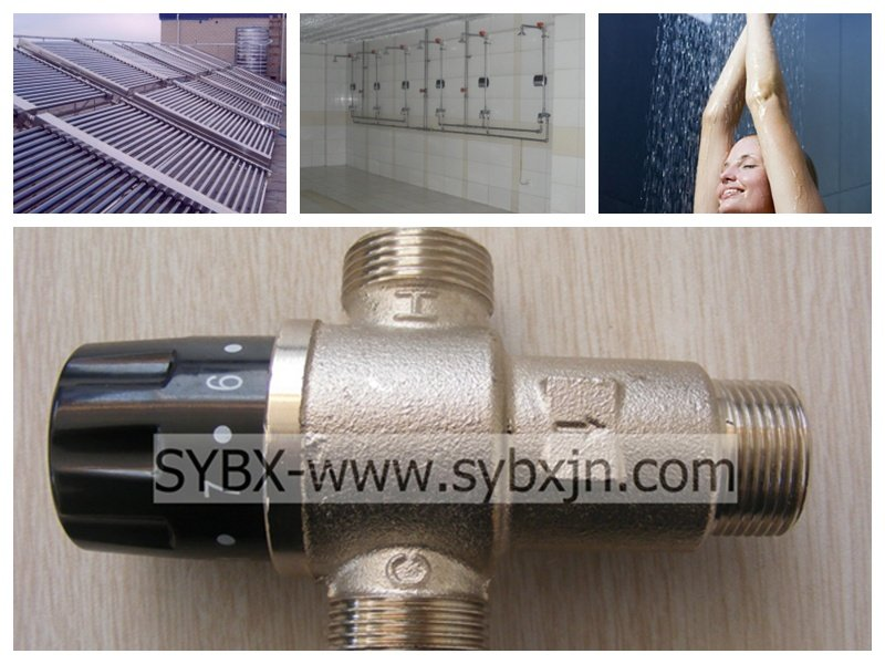 "china supplier manufacturing 3/4"" thermostatic mixing valve for solar heater"
