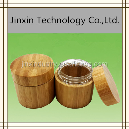 wooden bamboo perfume bottle and bamboo jar cosmetic packaging