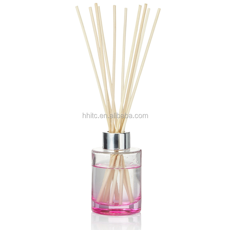 Colored Reed Diffuser Glass Bottle Fragrance Package Glass Bottle with aluminium cap