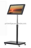 "24"" stand floor board digital advertising screens for sale flex media kiosk video player usb video loop led advertising player"