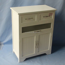 2018 china suppliers cheap modern white painting living room wooden cabinet with 3 wood drawers and 2 doors