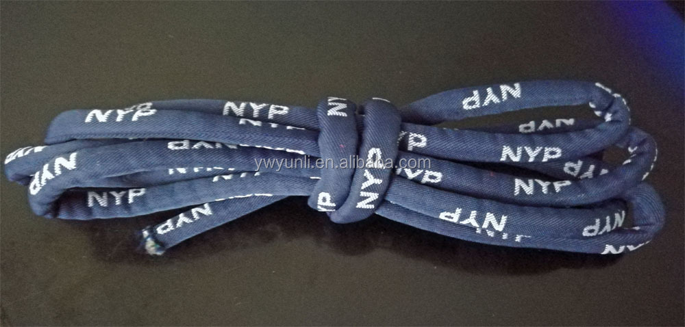 Nylon soft jacquard pull cord customized