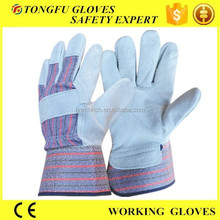 Cow split leather gloves /mens gray leather gloves