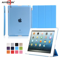 Factory Price Smart Leather Flip Cover Case for iPad 4 for iPad 2 for iPad 3