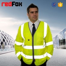 reflective removable sleeve safety vest of factory design