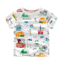 Wholesale fashion newborn baby clothes T-shirt 100% Cotton Baby short shirts