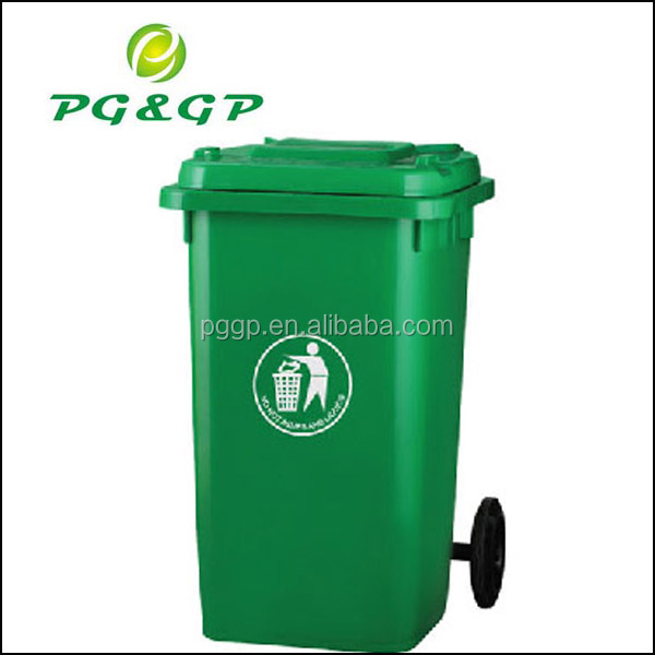 100L plastic dustbin with pedal