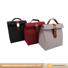 New design high quality promotion washable kraft paper lunch bags