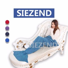 China Soft Textile Knitted Fleece Mermaid Tail Blanket, Lovely Kids Children Knitting Mermaid Tail Blanket~
