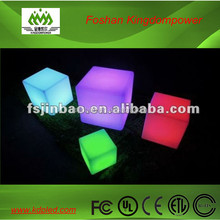 rechargeable multi colors changing lighting up led cube magic / battery power led chair