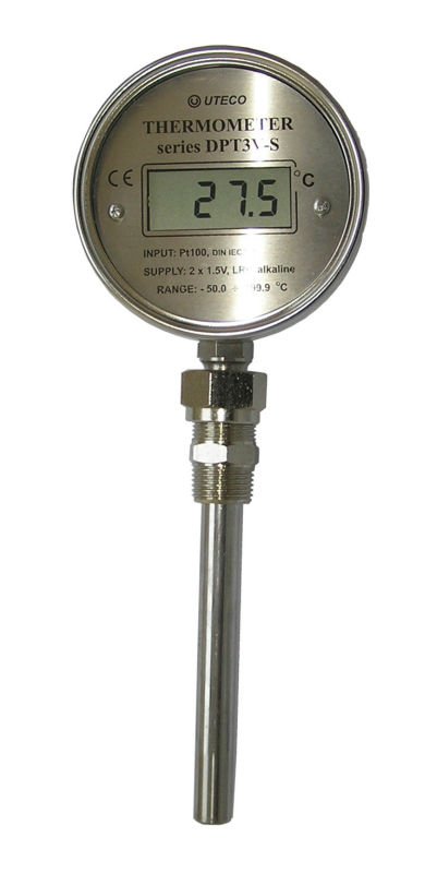 Digital thermometer battery powered with UTECO temperature sensors