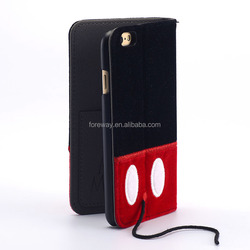 for iphone 6 custom wallet cover for iphone 6 leather case supplier