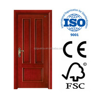 Mahogany morden fancy polished entry composite wood door