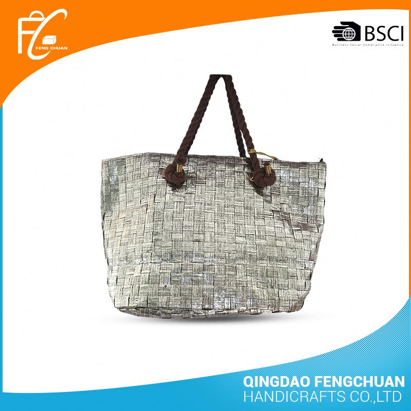 Top Sell Shopping Bag Paper Straw Bag With Handle