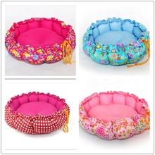 fashion style round shape dog beds washable dog bed waterproof fabric for dog bed