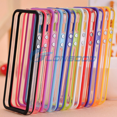 Clear Bumper Frame TPU Silicone Case for iPhone 6