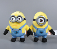 15cm 3D Plastic Eye Minions Plush Toy Stuffed Doll Hot Selling Despicable Me 2 Minion Plush Doll Toys Valentine's Day Gift