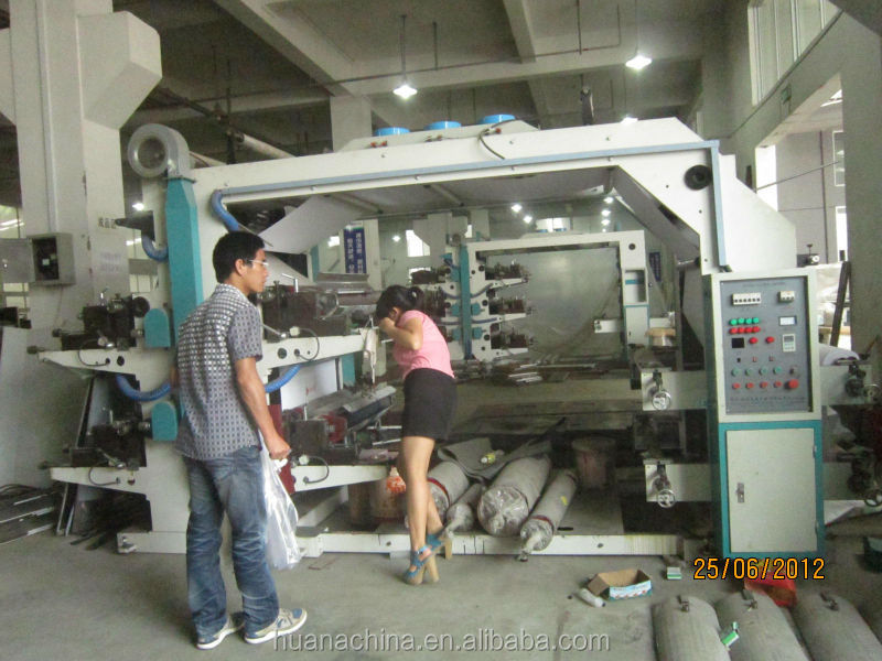 2014 New 4 Color Plastic Bag Flexo Printing Machine offset printing machine 4 colour