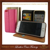 Leather horizontal wallet phone case with backclip for iphone 6 6 plus waist belt sport mobile phone cover for apple wholesale