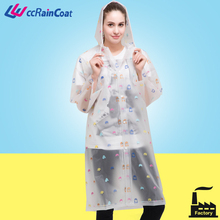 New design high quality ladies in plastic raincoats rain poncho