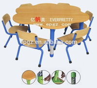 High Quality Used Daycare Furniture , High quality Flower Shape Daycare children table/desk
