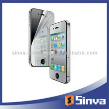 For Android mobile tablet pc mirror screen protector for iphone4/4s with smooth tough