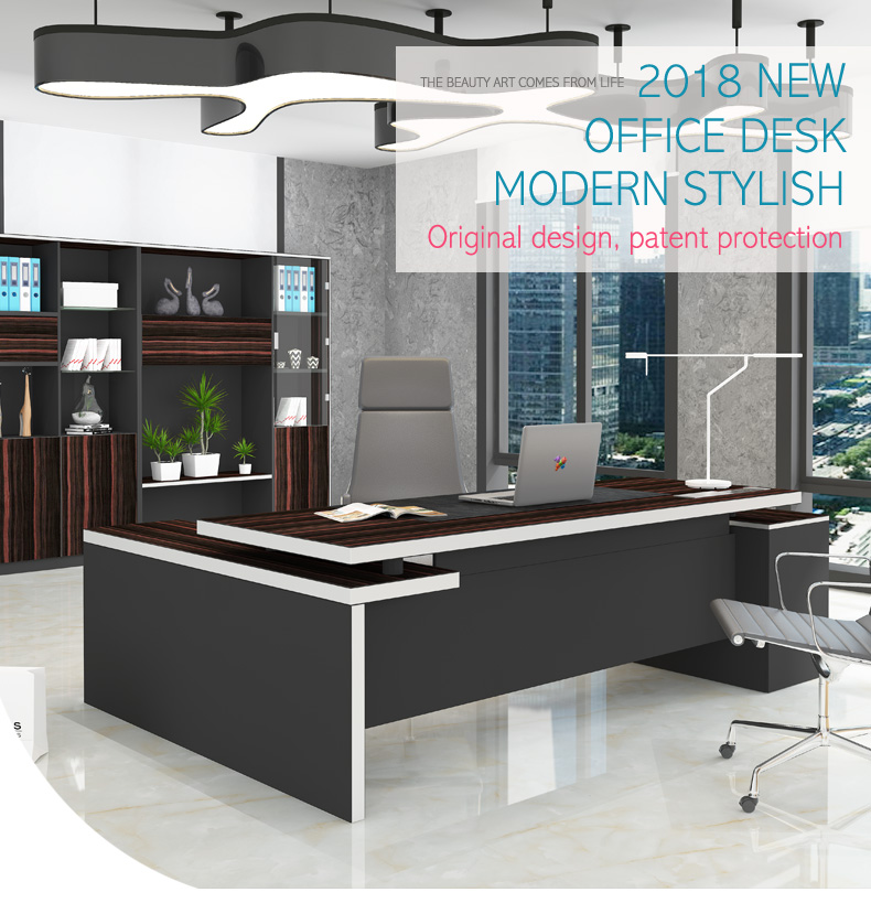 Item Name, Modern L Shaped Table Design Executive Manager Boss CEO Office  Desk