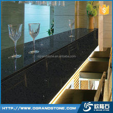 Prefab commercial restaurant bar tops, F1801 Black diamond quartz bar top
