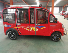 Discount small solar electric car van rhd Hot selling 3 seater adult pedal automatic electric car